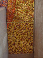 St. Therese of theLittleFlower mosaic repair by ABQ Art Glass