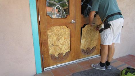 Stained Glass Door Repair
