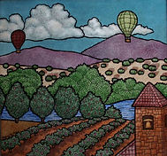 """Tuscany"" glass painting by ABQ Art Glass"