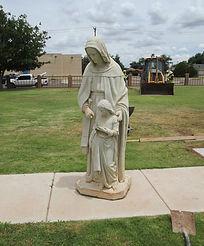 St. Anne's sculpture repair by ABQ Art Glass