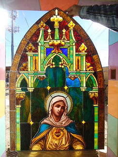 Glass painting of Mary by Kyle Ray