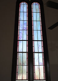 Billingsley Engineering stained glass restoration by ABQ Art Glass
