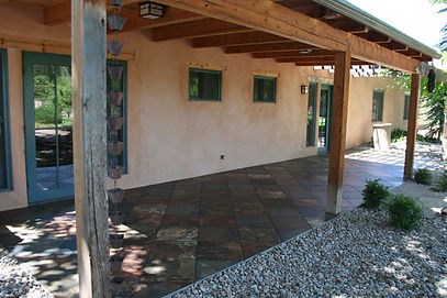 Porcelain tile porch by ABQ Art Glass
