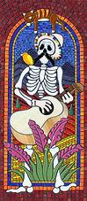 Mariachi Man 1 mosaic by Erin Magennis