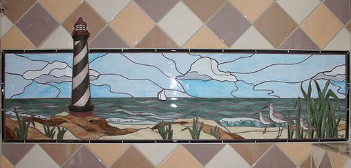 Lighthouse mosaic by ABQ Art Glass