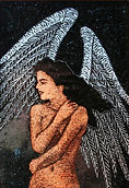 """Angel""glass painting by ABQ Art Glass"