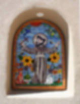 St. Francis nicho mosaic by ABQ Art Glass
