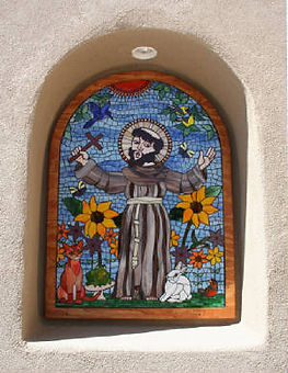 St. Francis nicho mosaic by ABQ Art Glass