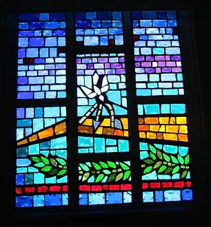 First Congregational Church slab glass repair
