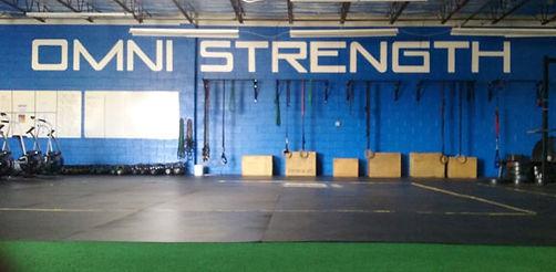 Omni Strength Gym logo by ABQ Art Glass