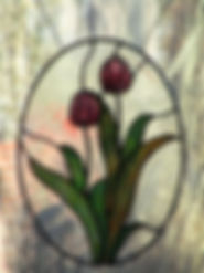 Tulip stained glass by ABQ Art  Glass