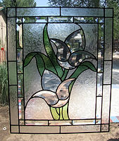 Bevel Flower stained glass repair