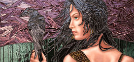 Raven Head mosaic by Kyle Ray