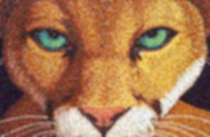 Mosaic cougar mascot for Cibola High School, Albuqerque, NM by ABQ Art Glass