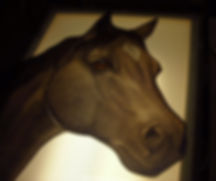 """Horse"" glass painting by ABQ Art Glass"