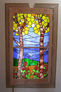 Aspen Trees stained glass by ABQ Art Glass