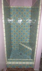 Mexican tileshower by ABQ Art Glass