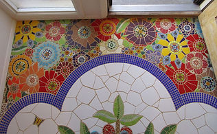 Mosaic flowers by ABQ Art Glass