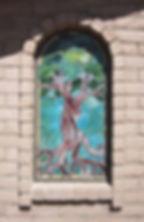Bonsai Tree stained glass nicho by ABQ Art Glass