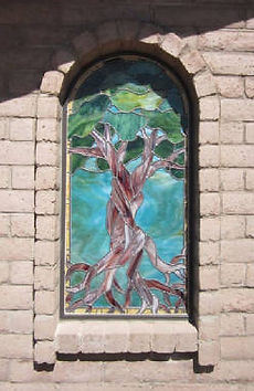 Bonsai Tree stained glass nicho by ABQ Art Glass