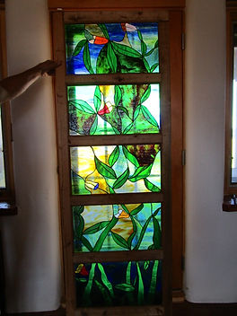 Stained glass install by ABQ Art Glass