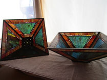 Conteporary stained glass lamp repair