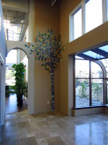 Mosaic Tree located at the Four Seasons Sunroom showroom, Albuquerque, by ABQ Art Glass