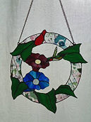 Hummingbird stained glass repair