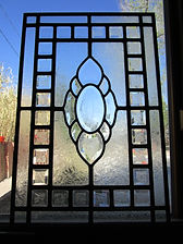 Bevel cluster stained glass repair