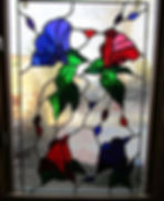 Morning Glories stained glass by Abq Art Glass