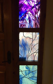 Purple stained glass repair