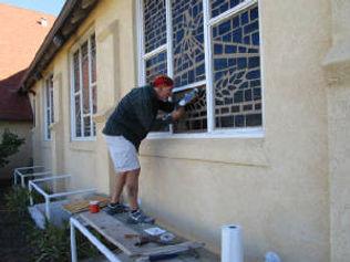 First Congregational Church slab glassrepair