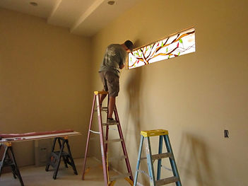 Stained glass installation by ABQ Art Glass
