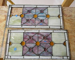 Cabinet door stained glass repair