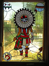 Kachina stained glass repair