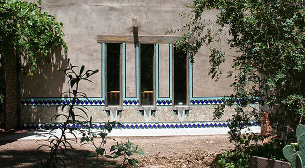 Wall mosaic, cobalt
