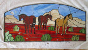 Horse stained glass repair