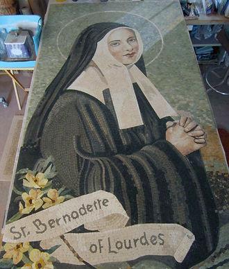 St. Bernadette mosaic restoration