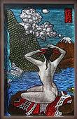 """Geisha""glass painting by ABQ Art Glass"