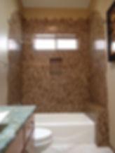 Linear glass brick mosaic tile by ABQ Art Glass