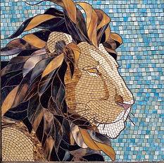 Lion mosaic by ABQ Art Glass