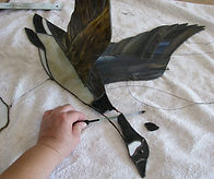 Canadian Goose stained glass repair