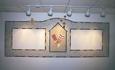 Mosaic donor wall for Ronald McDonald House of Charities, Albuquerque, NM by ABQ Art Glass