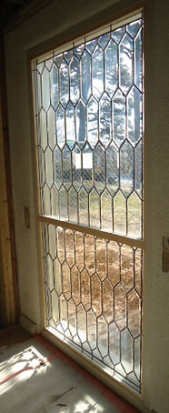 Clear Beveled Pattern glass window by ABQ Art Glass