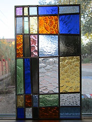 Stained glass door insert by ABQ Art Glass
