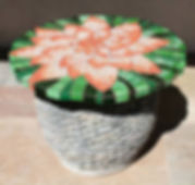 Lily Flower mosaic tabletopby ABQ Art Glass