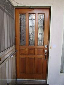 Clear beveled door repair by ABQ Art Glass