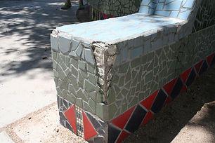 Zia Elementary School sandbox mosaic repair by ABQ Art Glass