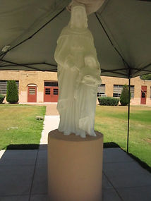St. Anne's sculpture repair by ABQ Art Glass
