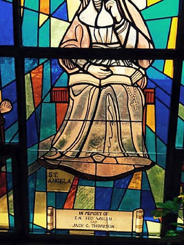 Sacred Heart Catholic Church stained glass repair by ABQ Art Glass